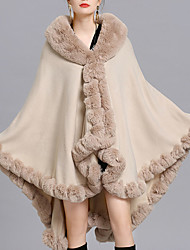 cheap -Sleeveless Capes Faux Fur / Imitation Cashmere / Fox Fur Wedding / Party / Evening Women's Wrap With Solid / Fur
