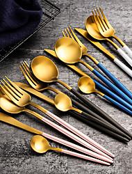 Недорогие -Столовые приборы из нержавеющей стали благородный вилка нож ложка десерт посуда посуда кухонный инструмент