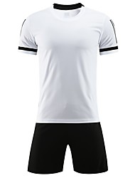 cheap -Boys' Girls' Soccer Jersey and Shorts Clothing Suit Breathable Quick Dry Soft Running Team Sports Football Camo / Camouflage Cotton Kids Black White Ruby / Micro-elastic