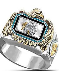 cheap -Men Ring Geometrical Gold Brass Gold Plated Flower Fashion 1pc 7 8 9 10 11 / Men's