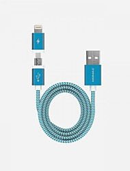 cheap -Micro USB / Lightning Cable 1.0m(3Ft) Braided / Quick Charge Aluminum / Nylon USB Cable Adapter For iPad / Samsung / Huawei