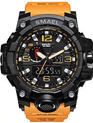cheap -SMAEL Men's Sport Watch Military Watch Wrist Watch Digital Casual Water Resistant / Waterproof LED Analog - Digital Black / Gold Black / Orange Red+Blue / Two Years / Silicone / Japanese / Alarm