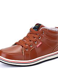cheap -Men's Comfort Shoes Microfiber Winter Casual Boots Walking Shoes Warm Black / Brown / Blue