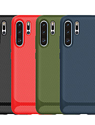 cheap -Case For Huawei Huawei nova 4e / Huawei P30 / Huawei P30 Pro Frosted Back Cover Solid Colored TPU