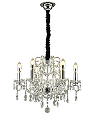 cheap -QINGMING® 6-Light 52 cm Mini Style Chandelier Metal Mini Electroplated Traditional / Classic / Modern 110-120V / 220-240V