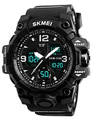 Недорогие -SKMEI Муж. Жен. Спортивные часы электронные часы Цифровой силиконовый Черный 30 m Защита от влаги Календарь Секундомер Цифровой На каждый день - Черный Красный Синий / Фосфоресцирующий