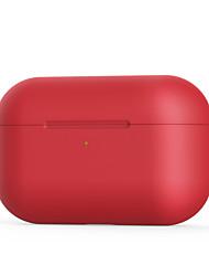 Недорогие -Сумка для наушников Простой стиль Apple Airpods Apple Airppods Pro Защита от удара Скретч-доказательство кремнийорганическая резина