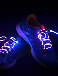 cheap -LED Shoelaces 1 Piece Luminous Plastic for Running / Cycling / Bike / Jogging Button Battery Powered