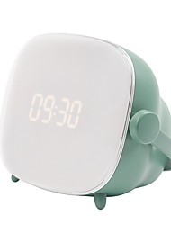 cheap -Kids Alarm Clock, Cute-TV Night Light Alarm Clock for Kids, Girls, Children, Bedroom, Rechargeable Battery Operated Alarm Clock with Sleep Timer, Indoor Thermometer – Living Coral