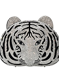 cheap -Women's Bags Alloy Evening Bag Crystals Hollow-out Animal Wedding Bags Party Event / Party Birthday Gold Silver