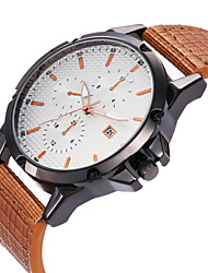 cheap -MEGIR Men's Dress Watch Quartz Formal Style Modern Style PU Leather Casual Watch Large Dial Day Date Analog Casual Fashion - Black Brown Black / Brown