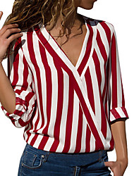 cheap -Women's Daily Shirt - Striped Black