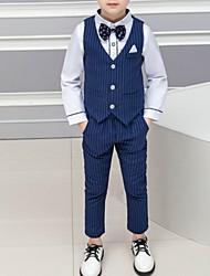 cheap -Black / Dark Navy Polyester Ring Bearer Suit - 1 Piece Includes  Vest / Shirt / Pants