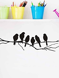 cheap -New Bird Printed Halloween Wall Stickers Room Decoration Decal Removable Black Bird Tree PVC Branch Art Home Mural Decoration 85*26cm