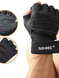 cheap -AOLIKES Workout Gloves Weight Lifting Gloves 2 pcs Sports Breathable Mesh Exercise & Fitness Training Powerlifting Built-In Wrist Wraps Adjustable Thumb Rest Adjustable Anti Slip Durable Wrist Support