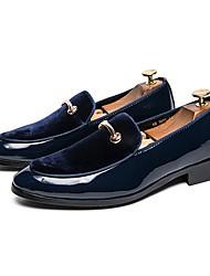 baratos -Homens Sapatos formais Couro Ecológico Primavera Mocassins e Slip-Ons Preto / Azul