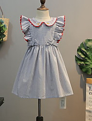 cheap -Toddler Girls' Striped Sleeveless Midi Dress Blue