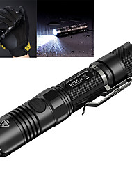 cheap -Nitecore P12GT LED Flashlights / Torch Tactical Waterproof 1000 lm LED CREE® XP-L HI V3 1 Emitters 7 Mode Tactical Waterproof Rechargeable Impact Resistant Nonslip grip Dimmable Camping / Hiking