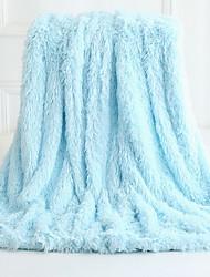 Недорогие -Многофункциональные одеяла, Сплошной цвет Флис удобный одеяла