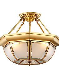 Недорогие -Lightinthebox 3-Light 35 cm Люстры и лампы Медь Стекло Оригинальные Латунь Художественный / Традиционный / классический 220-240Вольт