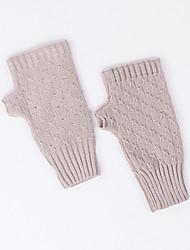 cheap -Rabbit Fur / Knit / Spandex Wrist Length Glove Gloves / Simple Style With Paillette