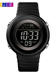 Недорогие -SKMEI Муж. электронные часы Цифровой Спортивные Искусственная кожа Черный 30 m Защита от влаги Календарь Секундомер Цифровой На открытом воздухе - Черный Черно-белый Белый / синий / Два года