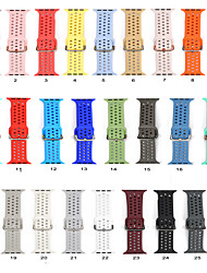cheap -Watch Band for Apple intelligent Watch strap Silica gel Texture Buckle Strap Multicolor Optional