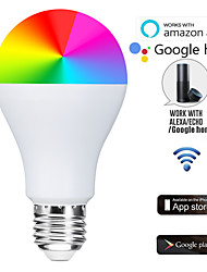 cheap -Alexa Voice WiFi Intelligent RGB Bulb 7W Home Lighting LED App Remote Dimming Creative Bulb