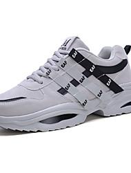 cheap -Women's Athletic Shoes Flat Heel Round Toe Pigskin Running Shoes / Walking Shoes Fall & Winter Black / Dark Grey / Light Grey