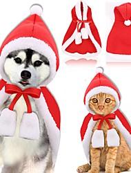 baratos -Cachorros Gatos Capa Inverno Roupas para Cães Vermelho Ocasiões Especiais Husky Labrador Golden Retriever Tecido Sólido Vestido Convertível Jóias de fantasia S L
