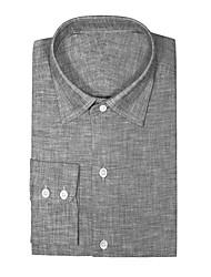Недорогие -классная серая хлопковая рубашка
