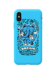 cheap -Case For Apple iPhone X / iPhone 8 Plus / iPhone 8 Pattern Back Cover Cartoon TPU