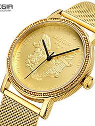 cheap -MEGIR Men's Dress Watch Quartz Formal Style Modern Style 30 m Water Resistant / Waterproof Casual Watch Large Dial Analog Casual Fashion - Gold