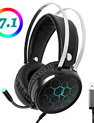 cheap -LITBest X1 Professional 7.1 Gaming Headset RGB Light Headphones for PUBG DOTA Gamer with Microphone Surround Sound USB Wired for PC Xbox One PS4