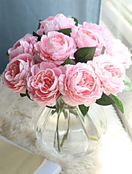 cheap -Beautiful Peony Artificial Flowers Silk Small Bouquet Party Spring Wedding Decoration Fake Flower 1 branch 28cm