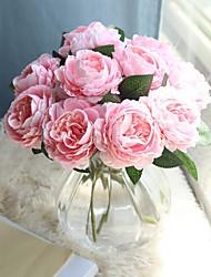 Недорогие -красивый пион искусственные цветы шелк маленький букет вечеринка весна свадебные украшения поддельный цветок