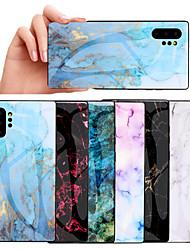 Недорогие -samsung note10plus простой мраморный чехол для мобильного телефона s10e окантовка мягкой оболочки мода закаленное стекло s8 / s9plus защитная крышка a70 противоударный ультра-тонкий новый