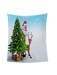 cheap -Christmas Bells Home Thickened Blanket Autumn/Winter Warm Double Blanket Size Customized