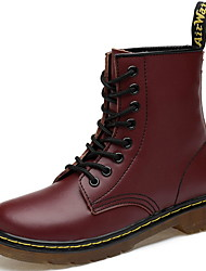 cheap -Men's Comfort Shoes PU Fall & Winter Boots Booties / Ankle Boots Black / Brown / Burgundy