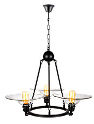 cheap -3-Light Mini Chandelier Ambient Light Painted Finishes Metal Glass Mini Style 110-120V / 220-240V