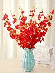 Недорогие -1 шт. В европейском стиле украшения гостиной искусственный цветок 5 вилок танцы орхидеи 92 см