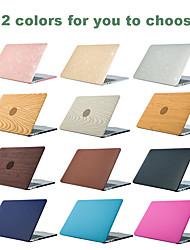 cheap -MacBook Case Wood Grain / Solid Colored / Glitter Shine Plastic for Macbook Air 11-inch / New MacBook Pro 15-inch / New MacBook Pro 13-inch