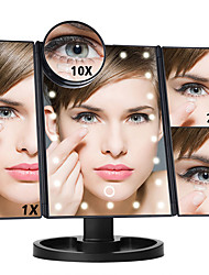 cheap -LED Touch Screen 22 Light Makeup Mirror 1X/2X/3X/10X Magnifying Vanity 3 Folding Adjustable Dimmable Mirror