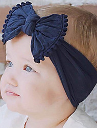 cheap -Toddler / Infant Boys' / Girls' Vintage / Active / Sweet Black / White / Blue Patchwork / Solid Colored / Tribal Bow / Mixed Color / Patchwork Nylon Hair Accessories Black / Wine / White One-Size