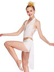 cheap -Ballet Dresses Girls' Performance Mesh / Lycra Lace / Paillette Sleeveless Dropped Dress