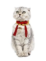 Недорогие -Собаки Коты Ошейники Орнаменты Одежда для собак Желтый Красный Костюм Лабрадор золотистого ретривера Корги Терилен Тонка шерсть Вышивка Вечеринка Новый год S