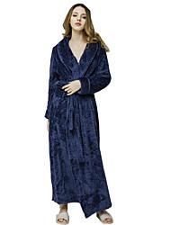 cheap -Women's Patchwork Robes Nightwear Solid Colored Wine White Purple M L XL