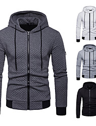 cheap -Men's Full Zip Cotton Track Jacket Running Jacket Hoodie Jacket Running Fitness Jogging Windproof Breathable Quick Dry Sportswear Plus Size Jacket Hoodie Long Sleeve Activewear Micro-elastic