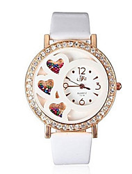 cheap -Women's Quartz Watches Heart shape New Arrival White PU Leather Chinese Quartz White Chronograph Cute New Design 1 pc Analog One Year Battery Life