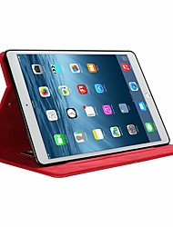 cheap -Case For Apple iPad Air / iPad Mini 3/2/1 / iPad Mini 4 Card Holder / with Stand / Flip Full Body Cases Solid Colored PU Leather